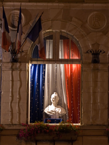 The Mairie on Bastille Night
